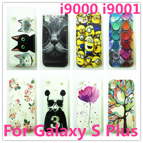 Cute hard pc painting pc cases for samsung galaxy s plus i9000 i9001 back covers(China (Mainland))
