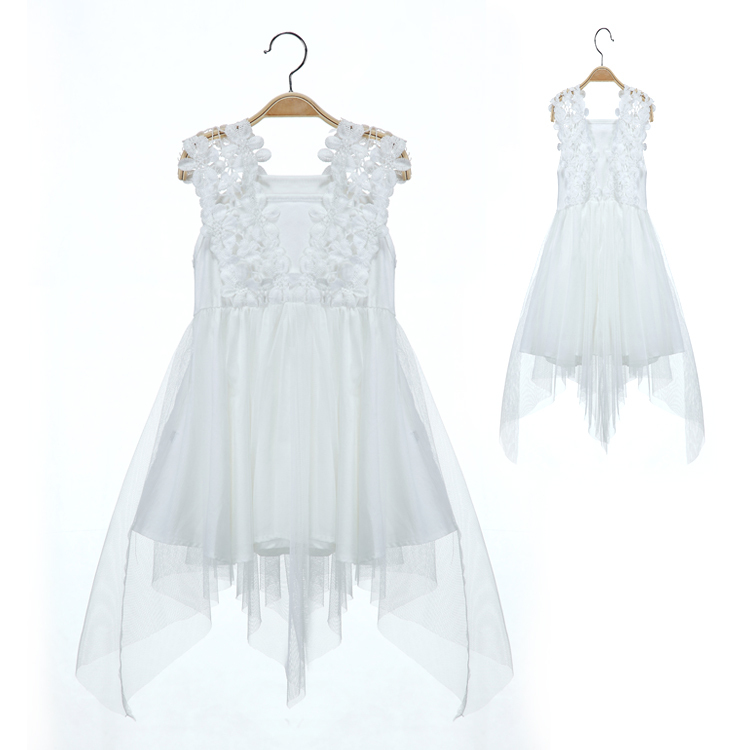 2015 Summer Style Fashion Sleeveless White Girl Dress Lace Princess Dresses Vestidos Infantis Baby Girl Summer Dress 1967<br><br>Aliexpress