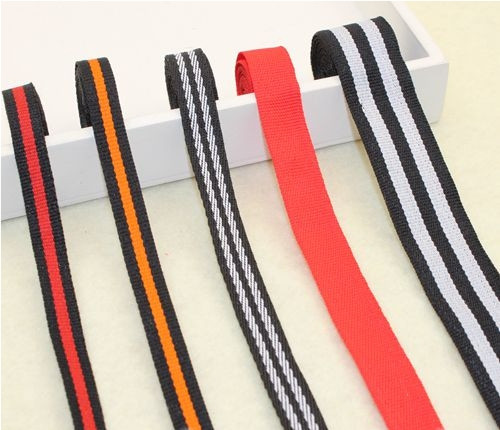 30mtrs/lot high untility webbing ribbon knitting ribbon bag webbing bandage cable ties yarn dyed terylene belt knitted