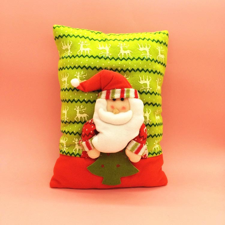 Indoor christmas decoration christmas cushion christmas for Christmas decoration stuff
