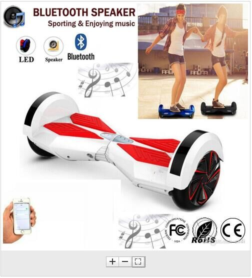 Ship from USA or China Free shipping 8 inch hoverboard Bluetooth Electric Unicycle 2 Wheel self balance scooters hoverboards(China (Mainland))