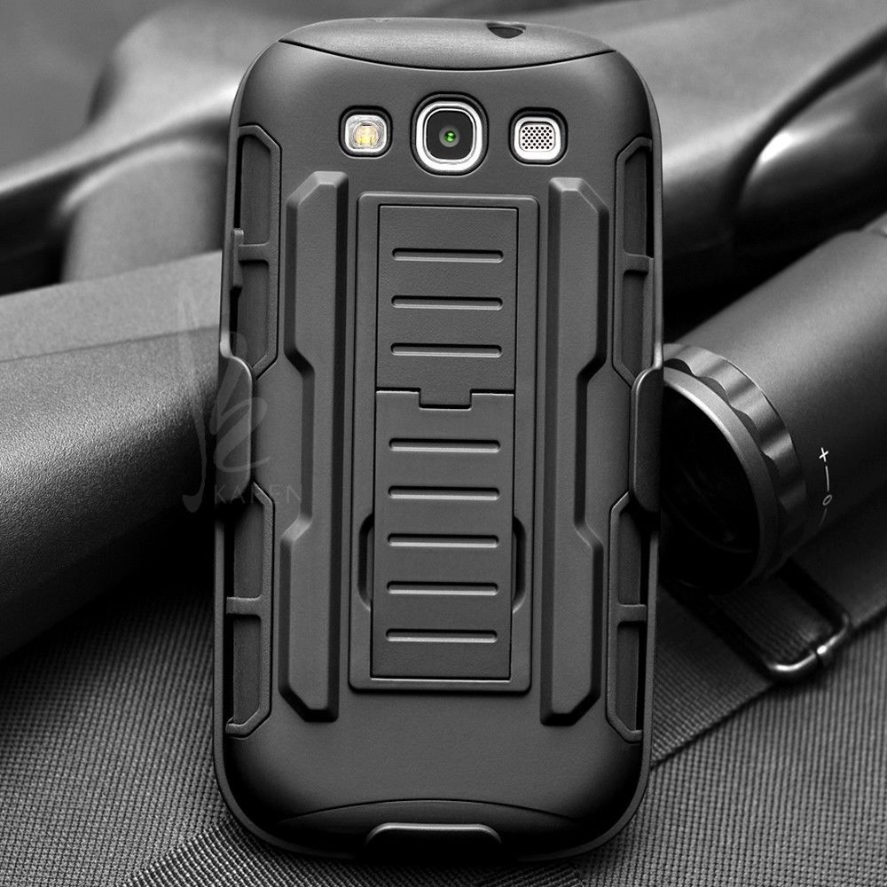 Rugged Armor Impact Holster Stand Hard Cover Case for Samsung Galaxy S3 I9300 / S3 Neo I9300i / S3 Duos Cell Phone Cases Coque(China (Mainland))