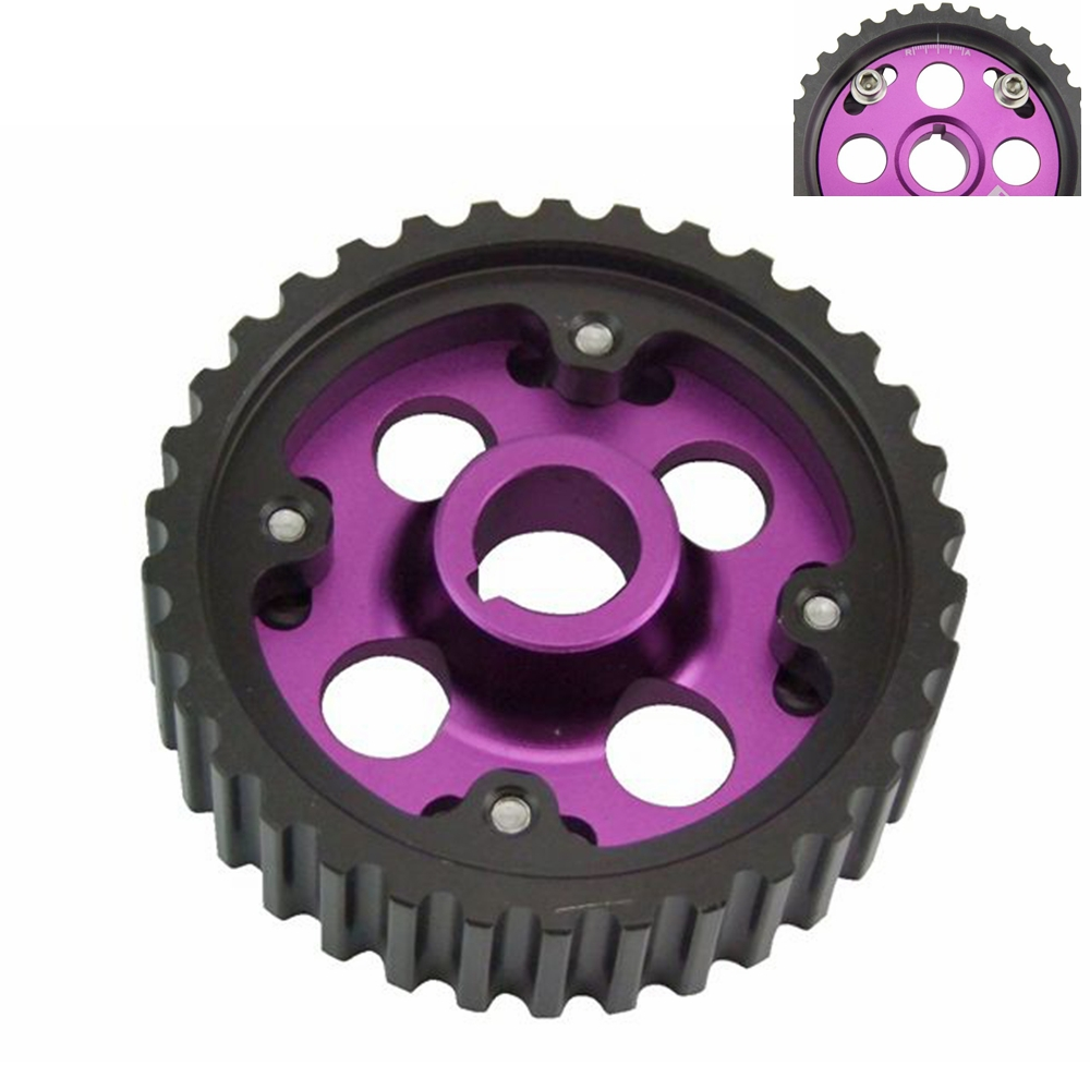 Racing Adjustable cam gears pulley FOR Honda B16A Purple 1pcs
