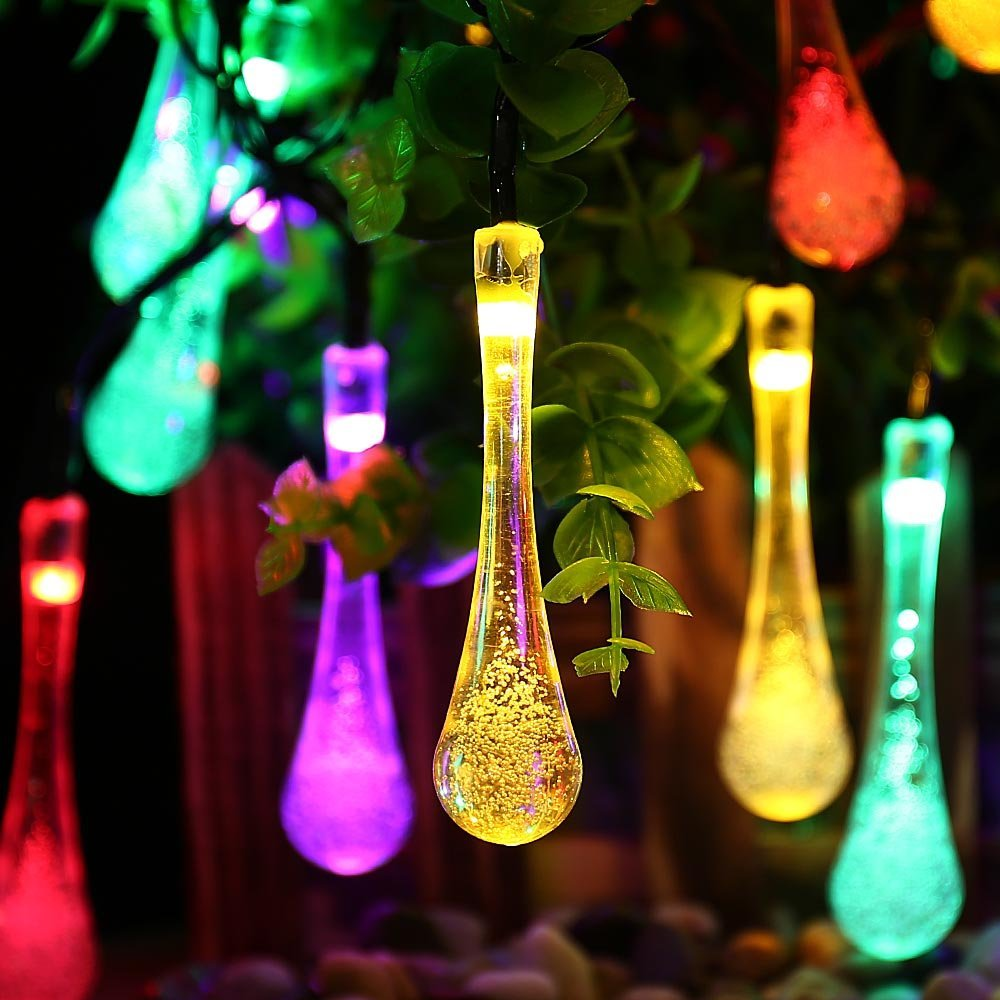 Solar Outdoor String Lights,20 Led Icicle Globe,Patio Light for Garden,Christmas,Wedding,Party, Xmas,Indoor,Path,Porch(China (Mainland))