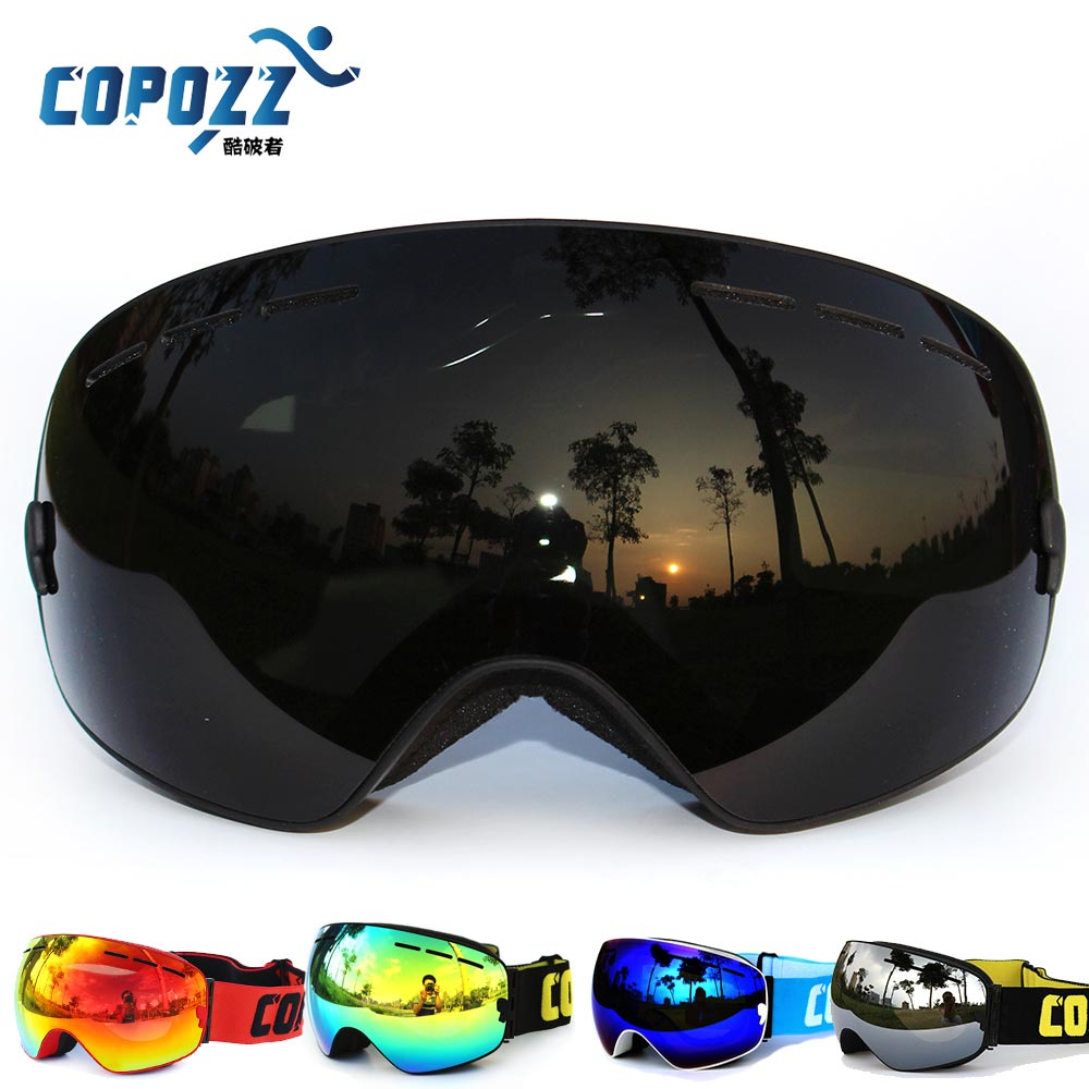 Гаджет  New COPOZZ brand professional ski goggles double lens UV400 anti-fog big glasses skiing snowboard men women snow goggles black None Спорт и развлечения