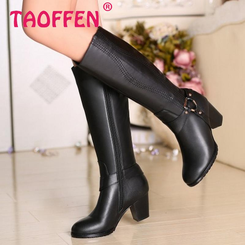 CooLcept Free shipping half ankle short natrual genuine leather high heel boots women snow warm boot shoes R4634 EUR size 31-43<br>