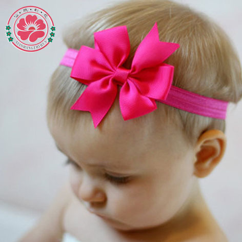 20pcs/lot Girl Hair Bow Headband DIY Grosgrain Ribbon Bow Elastic Hair Bands For Newborn Infant Toddler Hair Accessories 567(China (Mainland))