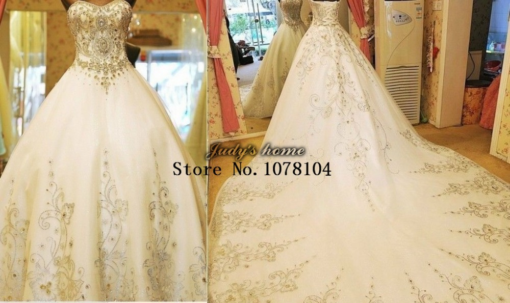 Luxury stunning sweetheart neckline ball gown crystal full for Ball gown wedding dresses with sweetheart neckline and beading