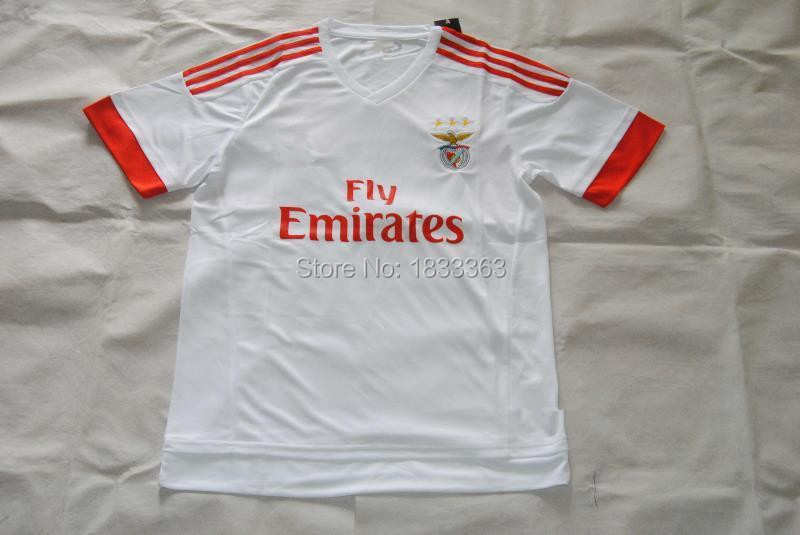 The Thai version of the 15-16 season the new Portuguese Benfica Jersey Benfica football clothes popular short sleeved shirt away(China (Mainland))