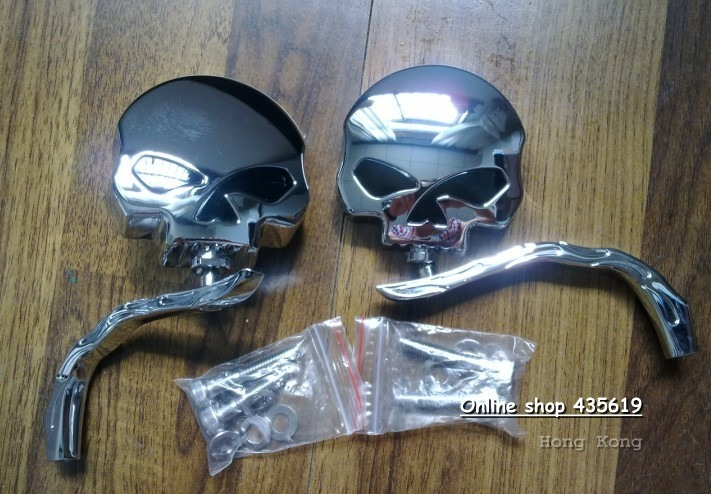 Motorcycle Mirrors For Harley XL883 XL1200 universal mirror Jet chrome Racing Mirrors(China (Mainland))