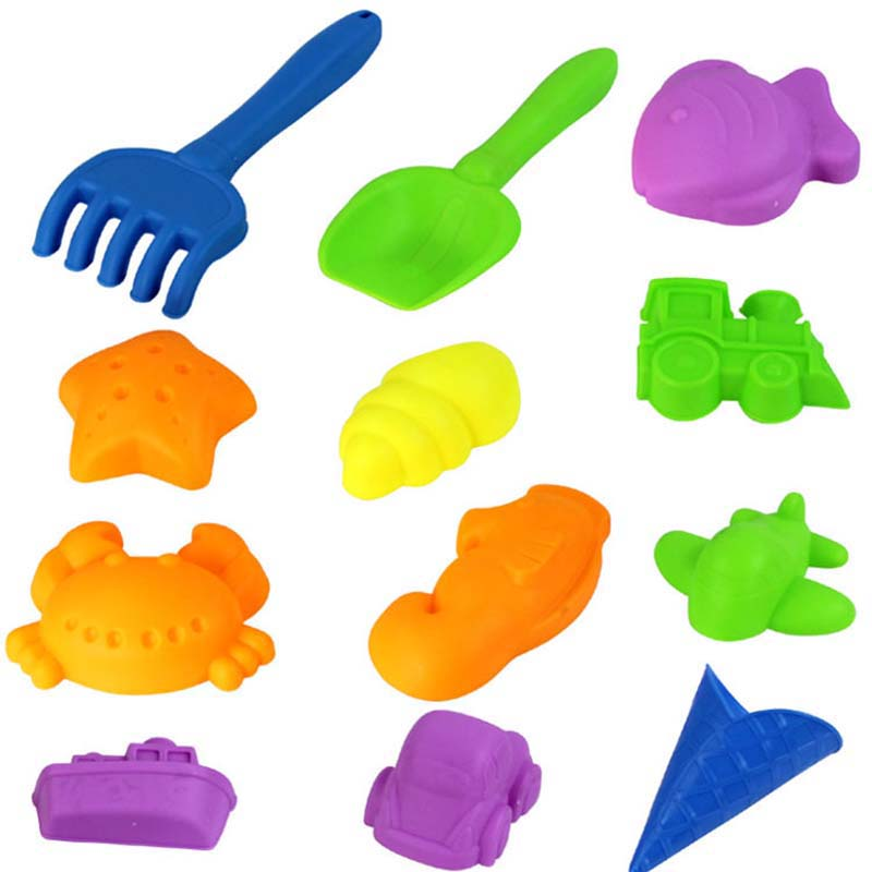 12Pieces/Set Colored Sand Tools Moulds Baby Space Sand Mold Children Super Toy Model Kids Sand Clay DIY Educational Toys(China (Mainland))