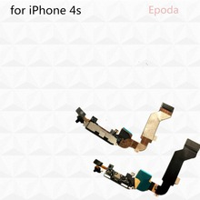 New Dock Connector Charging Port Flex Cable Replacement for iPhone 4s Mobile Phone Charger Flex Cables free shipping