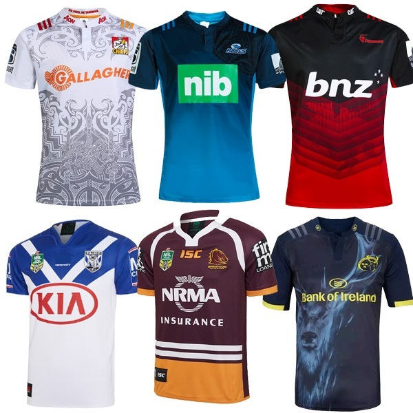 2017 New Zealand bulldogs Super Rugby Jersey Thai Broncos rugby uniforms blacks shirts(China (Mainland))