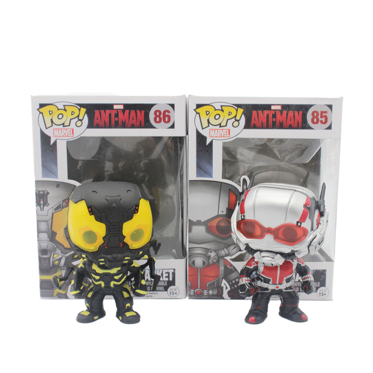 Funko Pop Bobble Head Figure Marvel the Avengers Civil War 3 Ant-Man Red Yellow Jacket 2color 10CM PVC Vinyl Figure Toy(China (Mainland))