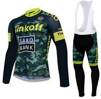 2015 New Spring Long Sleeve Team Cycling Jerseys/Breathable Comfortable MTB Bike Clothing With Racing Bicycle GEL Pants Shorts(China (Mainland))