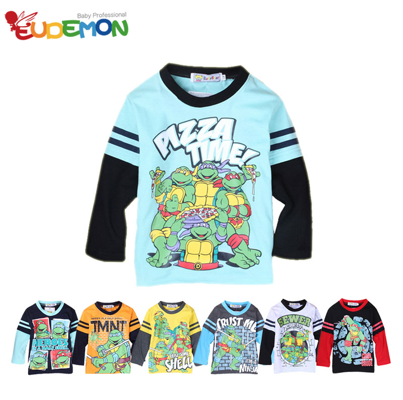 [Eudemon] 2016 boy t shirt summer style new arrival Teenage Mutant Ninja Turtles boys clothes t shirt for kids children(China (Mainland))