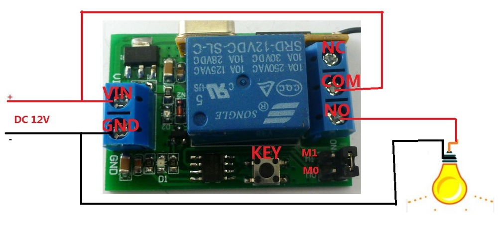 HTB19yBPJpXXXXc_XpXXq6xXFXXXM dc 12v delay relay rf wireless switch for motor electromobile 6 PC LED Switch Wiring Diagram at mifinder.co