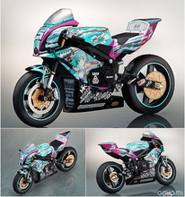 Hot Item Classic Japanese Anime Doll Figma 233 Hatsune Miku Motorcycle PVC Action Figure Model Toy Collection Kids Gift 19Cm