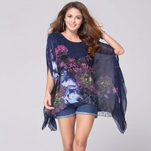 lztlylzt 2016 New Summer Casual Flower Kimono Women Tops Chiffon font b Blouse b font font