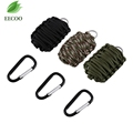 Outdoor All in 1 Survival Keychain Fishing Paracord Tools Kit For Camping Hiking Weave Grenade Key