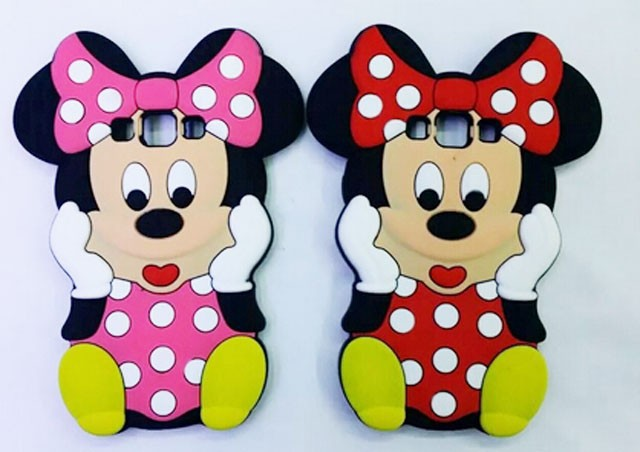2015 hot Sale Lovely Cute Mickey Mouse Minnie 3D Silicone Cover Case for Samsung Galaxy A3 A5 A7 E7 Cartoon Cover(China (Mainland))