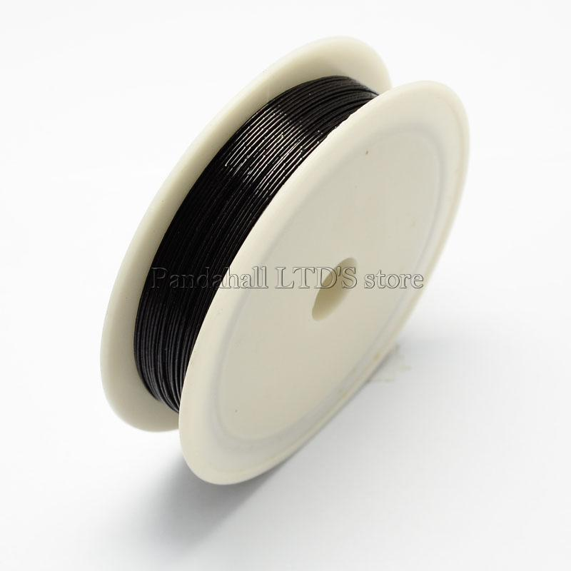 Iron Wire, Black, 0.5mm, about 7m/roll, 10rolls/set(China (Mainland))