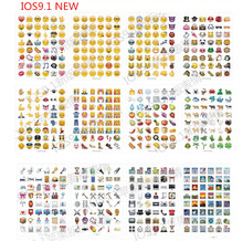 10 sheets/lot  IOS Classic /face/9.1 New  Emoji stickers  (48 Die Cut ) sticker for notebook fun message Vinyl*funny*creative(China (Mainland))