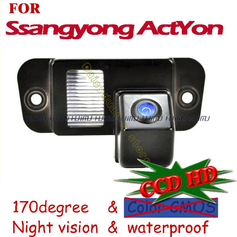 wire wireless for Sony /CCD Car Rear View Reverse backup Camera for Ssangyong ActYon /Actyon night vision Parking Assistance(China (Mainland))