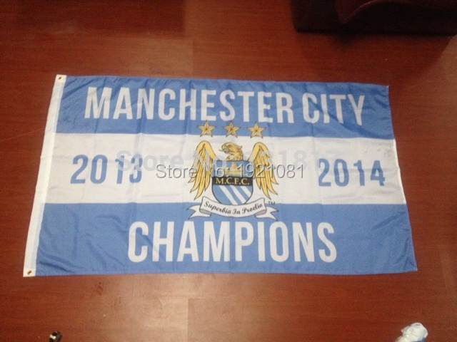 2014 hot sale new design manchester city Sport Flag 3'X5'(China (Mainland))