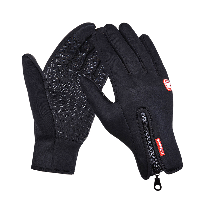 Top Selling Cycling Gloves Bike Bicycle Outdoor Sports Windstopper Gloves Riding Motorcycle Gloves Men Touch Screen Black Blue(China (Mainland))