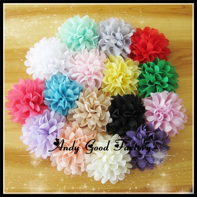 4 Chic Shabby Chiffon Flower Accessories Artificial Fabric Flowers For Baby Headband Fashion Hair Flowers 200pcs/lot FL055<br><br>Aliexpress