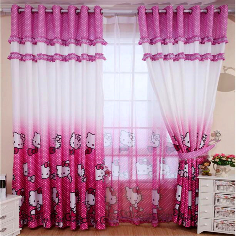 single panel children bedroom tulle curtains girl room