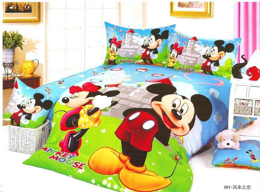 Minnie mouse couette promotion achetez des minnie mouse - Housse de couette mickey et minnie ...
