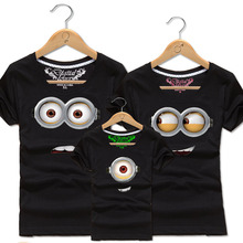 Boys & Girls Cotton Minions T Shirt Men Women Family Matching Clothing Kids Despicalbe Me Tee Shirts Baby T-shirts Dad Son Tops