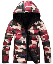 2015 New Camouflage Winter Men Print Warm Male Overcoat Parka Outerwear Cotton Hooded Hoodies Padded Thick Padded Coats Y244