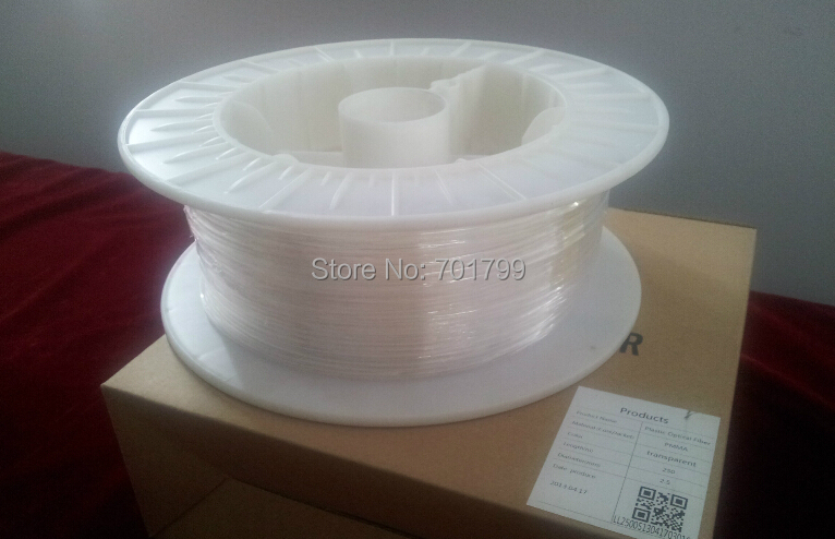 0.5mm diameter/6000m/roll PMMA fiber optic cable end glow for decoration lighting(China (Mainland))