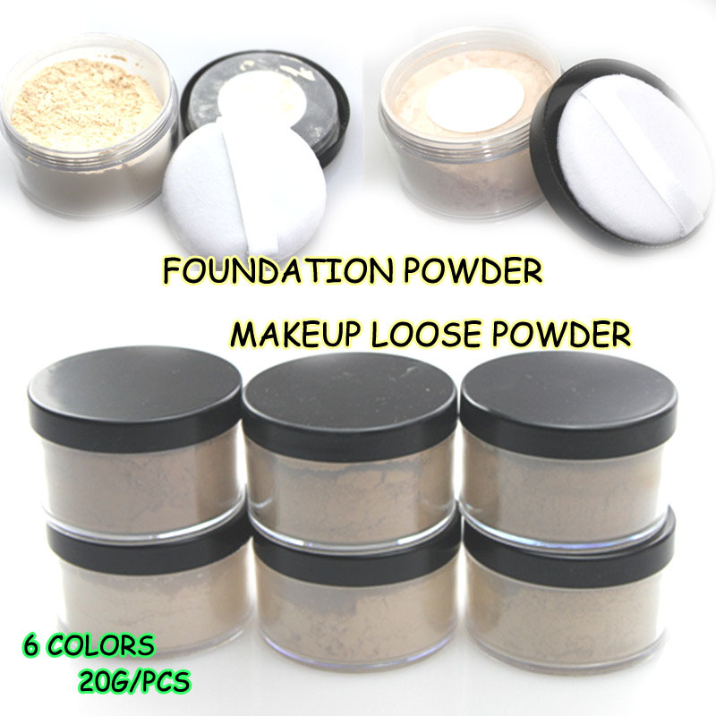 HOT sale 6colors makeup face powder bare minerals maquillage ben nye chanal makeup Free shipping<br><br>Aliexpress
