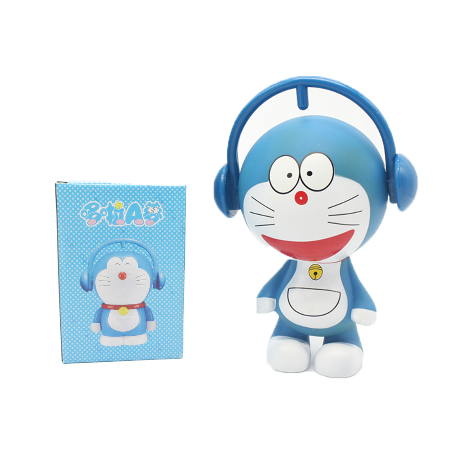 money boxes Anime Popular Cartoon Doraemon Material Lovely Expressions Mini Decorative Children Figure Model Collection Toy(China (Mainland))