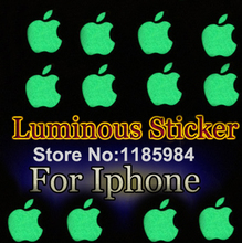 Zero Profit Hot DIY Cool Visible Luminescent Logo Sticker For Apple iphone 3GS/4S/5/5S Green Natural Light Luminous Sticker B3(China (Mainland))