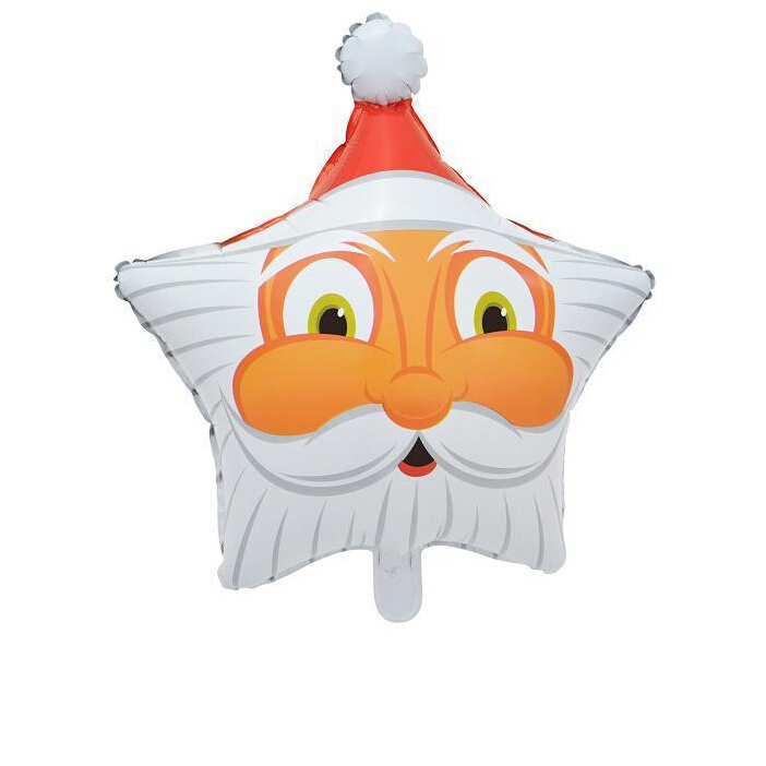 Merry Christmas Star Shape Santa Claus Foil Balloon for Christmas Celebration Helium Balloofun Birthday Party Decoration(China (Mainland))