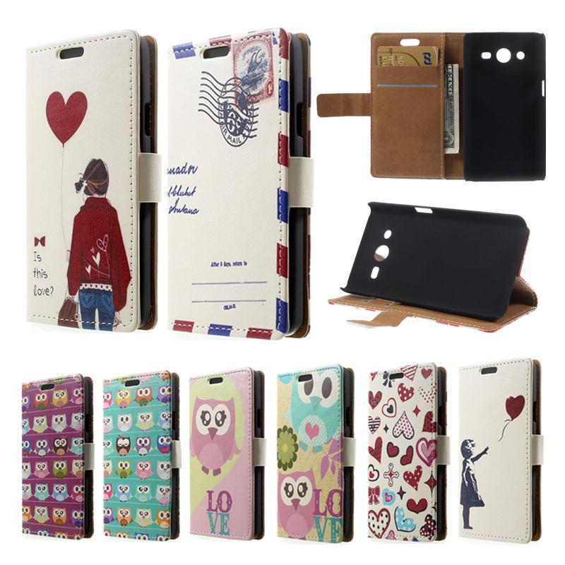 iPhone 6 4.7 inch Postcard Owls Cartoon Magnetic Leather Card Slot Stand Case Phone Cases - Lemonlan Co.,Ltd store