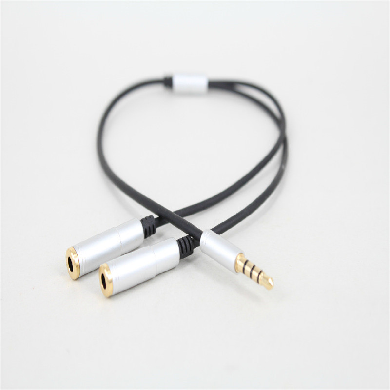 Promotion 1PCS China Brand New 3.5MM Extension Earphone Headphone Audio Splitter Cable Adapter Male to 2 Female Smartphone MP4(China (Mainland))