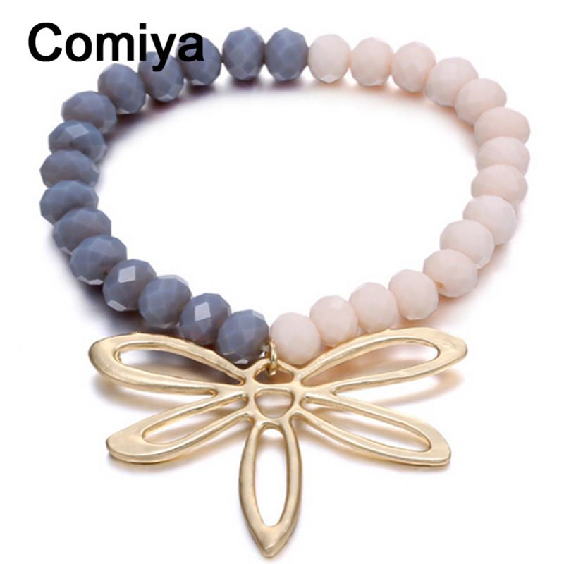 Vintage crystal beads big butterfly alloy anime pendant bracelet femme fashion pulseras bracelets feminina pulseira cc bagnle(China (Mainland))