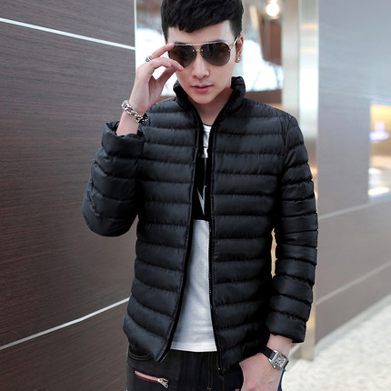 2015 Men's Winter Down Jacket Mens Parka Jacket Mens Slim Fit Jacket Padded Coat Overcoat Parka a Warm Coat Men Winter CoatsLG5D(China (Mainland))