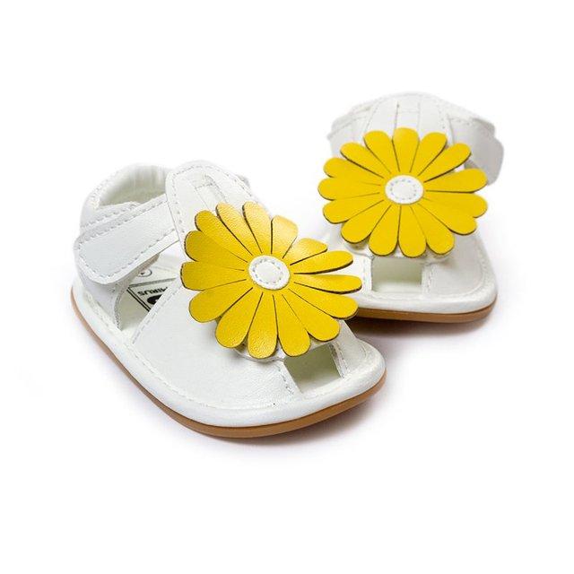 Летние девочки сандалии Skidproof малыш детские дети цветок обувь