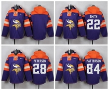 Teddy Bridgewater Harrison Smith Adrian Peterson Kyle Rudolph Patterson Sweater hoodies any name any number(China (Mainland))
