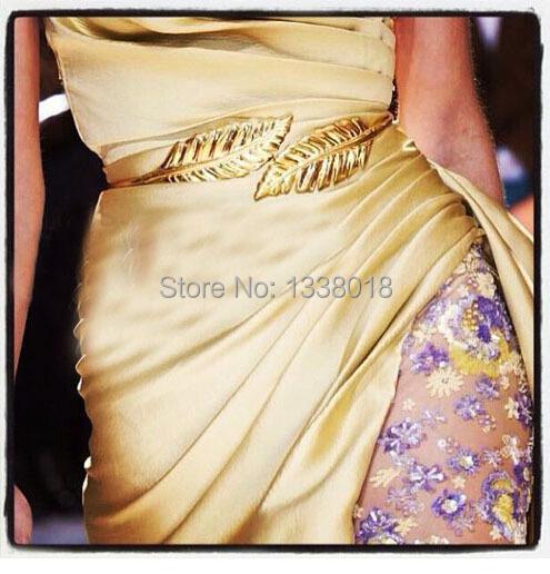 Hot!! Personalized Luxury Women Metal Belts Bright Maple Leaf Chain Belt Decorative Iron Straps(China (Mainland))