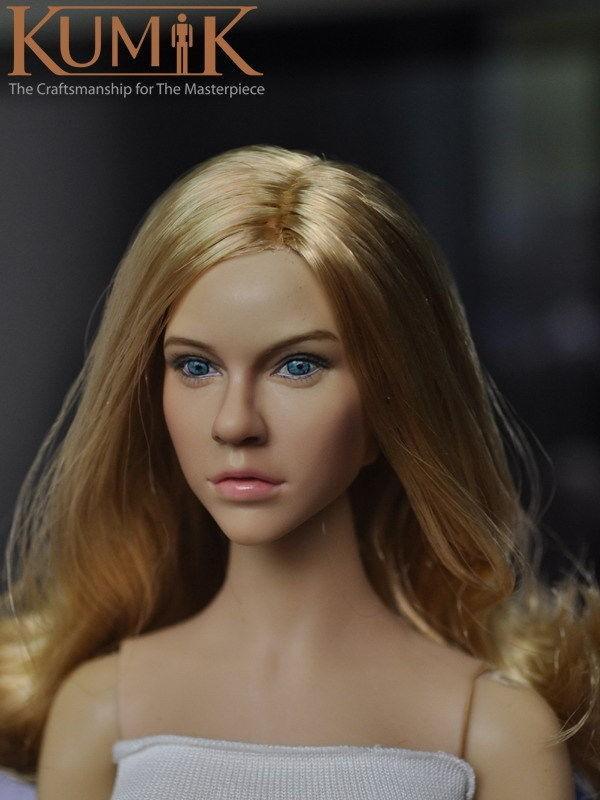 1/6 KUMIK Headplay Determine Head Mannequin Feminine CG CY KM15-12 Head Sculpt Blond Hair 12″ Motion Determine Assortment Doll Toys Present