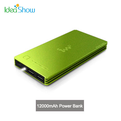 IWO P40 12000mAh USB External Backup Battery Powers Mobile Phone Power Bank Charger for iPhone Samsung Huawei Lenovo LG Phone(China (Mainland))