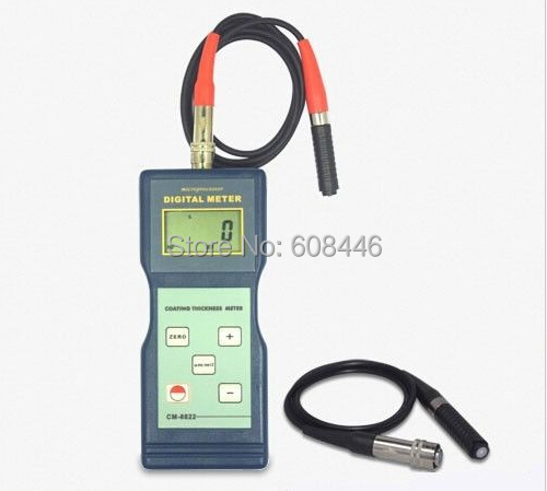 CM-8822 Paint Coating Thickness Meter Gauge F&NF Probes 0~1000 um / 0~40 mil Hot(China (Mainland))